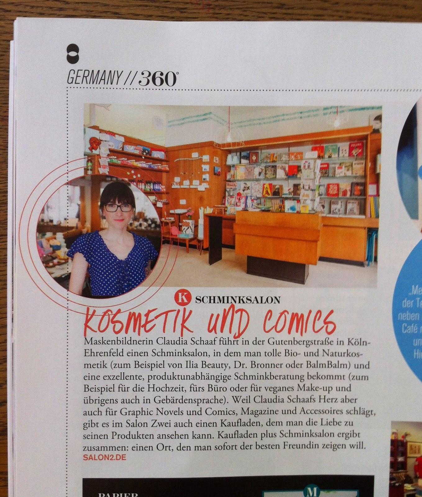 FLAIR Magazin Artikel über Salon Zwei 2014
