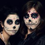 Salon Zwei Sugar skull Make-Up, Dia De Los Muertos oder Karneval Köln