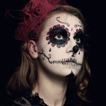 Salon Zwei Köln Sugar skull Make-Up, Dia De Los Muertos oder Karneval