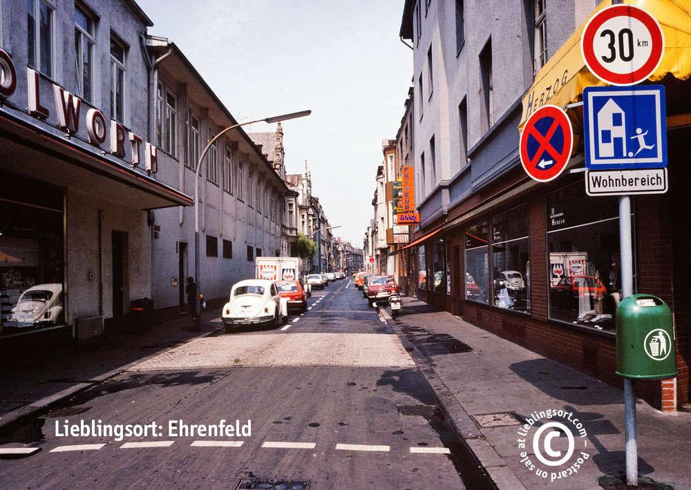 Postkarte Simrockstraße, Köln-Ehrenfeld